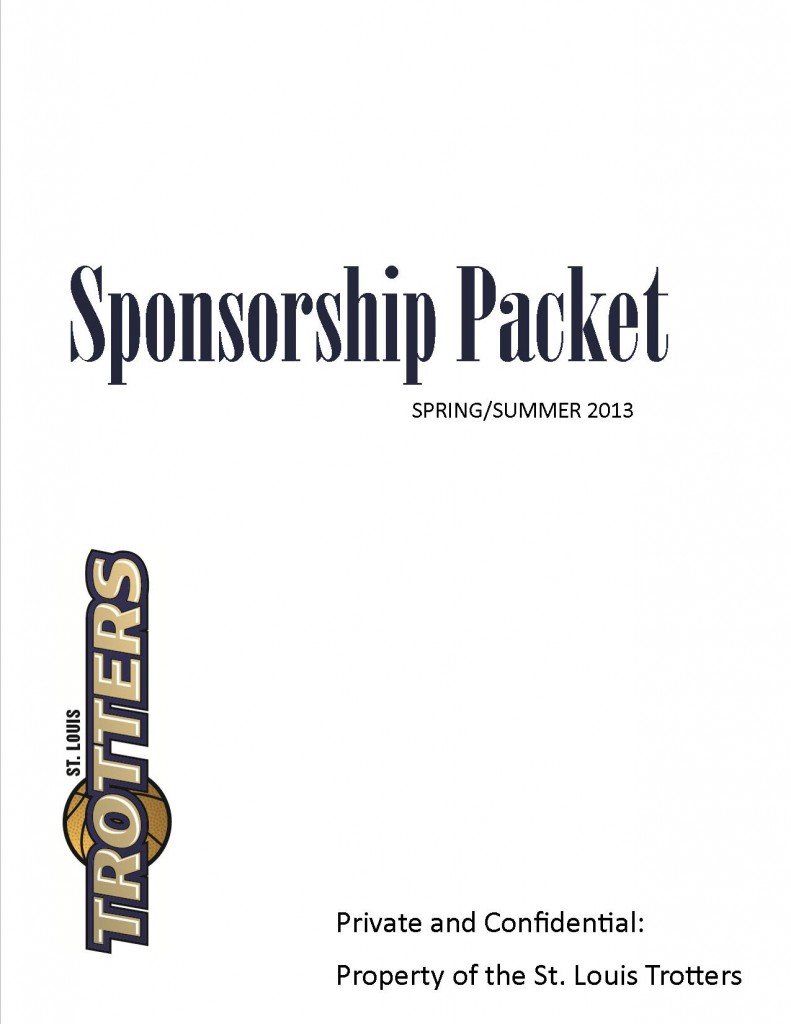 The Saint Louis Trotters are offering sponsorship opporunities!